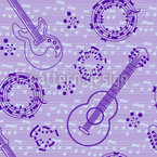 Acoustic Guitar Love Pattern Design