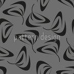 Вихревые листья Бесшовный дизайн векторных узоров
