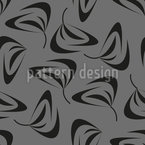 Swirling Leaves Seamless Vector Pattern Design