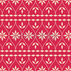 Scandinavian Christmas Bordure Seamless Vector Pattern Design