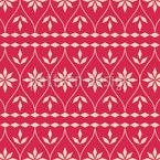 Skandinavische Weihnachtsbordüre Rapportiertes Design