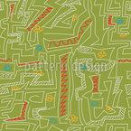 Handgezeichnetes Labyrinth Nahtloses Vektormuster