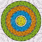 Meditation Nahtloses Vektormuster