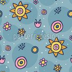 Swimming Flowers Repeat Pattern