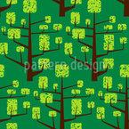 Vegetated Tree Seamless Pattern