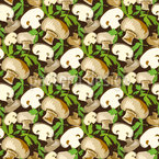 Champignon with Parsley Leaves Pattern Design