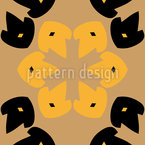 Potato Print Flowers Vector Ornament