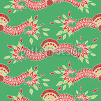 Persia Green Pattern Design