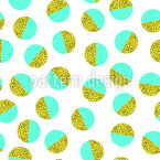 Memphis verschönerter Ball Nahtloses Vektor Muster