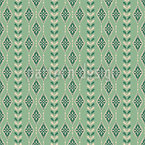 Vintage Snowflakes Stripes Seamless Vector Pattern Design