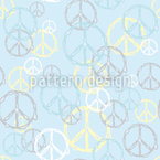 Melting Peace Sign Vector Ornament