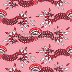Cavallo Pink Seamless Vector Pattern Design