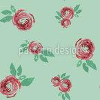 Schöne Vintage Rose Nahtloses Vektormuster