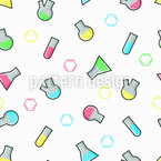 Colorful Labaratory Seamless Vector Pattern