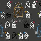 Casa de Papai Noel Design de padrão vetorial sem costura