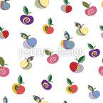 装飾リンゴ シームレスなベクトルパターン設計