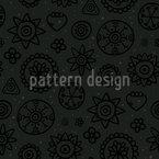 Dark Flowers Design Pattern