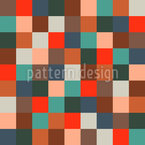 Colored Checkerboard Seamless Vector Pattern Design