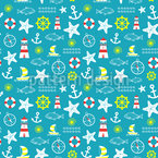 Baltic Sea Seamless Vector Pattern Design