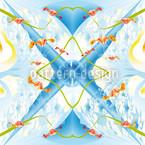 Ströme von Kristallen Nahtloses Muster
