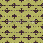 Latticed With Embellishment Seamless Vector Pattern Design