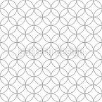 Minimalistische abgerundete Formen Vektor Muster