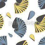 Breit Gefächert Nahtloses Vektor Muster