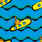 Sweet Little Submarine Seamless Pattern