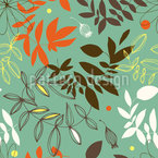 Dekorative Botanic Rapportiertes Design