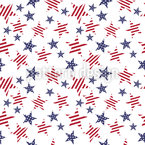 Patriotic Stars Seamless Vector Pattern Design