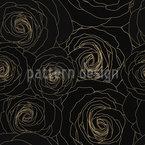 Konturierte Rosen Nahtloses Vektormuster