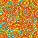 Brasil Carnival Seamless Vector Pattern Design