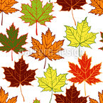 Arranged Maple Leaves Seamless Pattern