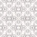 Alien Hexagons Seamless Vector Pattern Design