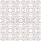 Monochrome Circles Seamless Vector Pattern Design