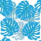 Botanical Palm Leaves Repeating Pattern