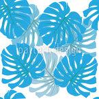 Botanische Palmblättern Rapportiertes Design
