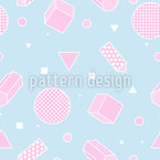 Three-dimensional Elements Seamless Vector Pattern Design