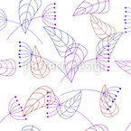 Stylized Plants Pattern Design