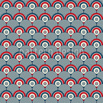 Alvos infinitos Design de padrão vetorial sem costura