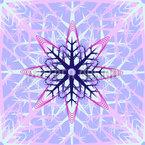Abstrakte Eiskristalle Nahtloses Vektormuster