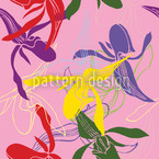 Orchid Color Seamless Vector Pattern Design