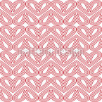 Hearts Side By Side Vector Pattern