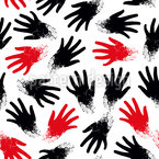 Abstract Hand Prints Vector Design