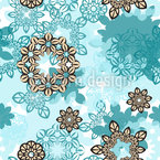 Water Flower Seamless Pattern