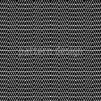 Monochromer Zick-Zack Nahtloses Vektormuster