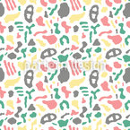 Graphical Organic Shapes Seamless Vector Pattern Design