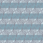 Corals And Stripes Seamless Vector Pattern Design