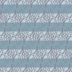 Korallen und Streifen Nahtloses Vektor Muster