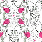 Decorative Art Nouveau Flair Seamless Vector Pattern Design